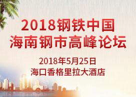 2018钢铁中国·海南钢市高峰论坛